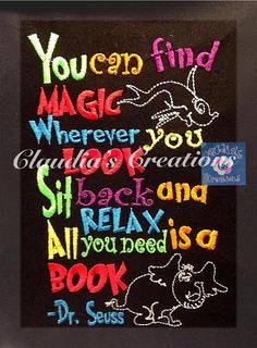 Magic Wherever You Look Embroidery Saying