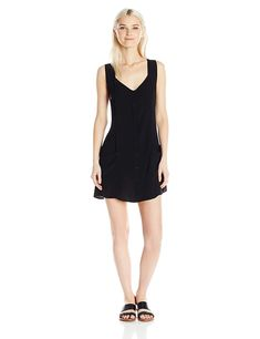 Obey Junior's Jinx Dress * Be sure to check out this awesome product. (This is an affiliate link) Women Sleeve, Junior Dresses, Casual, Sleeves, Stuff To Buy, Black, Awesome, Fashion, Moda