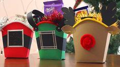 Cajita de papas fritas o frybox navideña