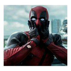 """""""Gasp!"""" """"Did I say that?"""" i don't have a filter. And Hubs & I LOVE Deadpool. We own so many comics & books, it's ridiculous."""