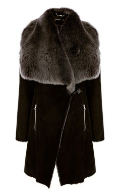 Karen Millen Draped Sheepskin Coat | Clothing