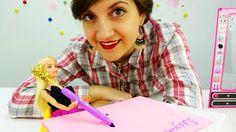 Видео про куклы и игры для девочек: Помоги #Барби написать письмо деду м...