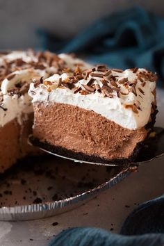 Chocolate lovers have I got the pie for you! This Easy Chocolate Mousse Pie is out of this world decadently delicious and it's sure to wow the crowd this Thanksgiving! And yes, as the title claims thi