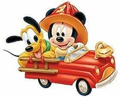 Disney Baby Mickey and Pluto as firefighters Retro Disney, Cute Disney, Walt Disney, Disney Art, Disney Cartoon Characters, Disney Cartoons, Mickey Mouse And Friends, Mickey Minnie Mouse, Disney Kunst