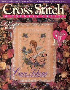 Cross Stitch and Country Crafts January February 1994 Magazine Blueberry Creek…