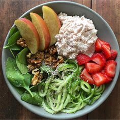 We love seeing the delicious & healthy recipes @zestmylemon creates using our honey! Can't wait to recreate one of her latest lunch bowls: Spinach and spiralized cucumber with strawberries and apples dressed with @simplegirlsite sweet vinaigrette, topped with @lifewaykefir farmers cheese, walnuts, @salbachia chia seeds and drizzled with our H.L. Franklin's Healthy Honey! Looks yummy, right?! #Pure #Raw #Unfiltered #Healthy #Honey #Salad #Chia #Strawberry #Cumcumber #Spinach #Walnuts… Cooking With Honey, Farmers Cheese, Looks Yummy, Cobb Salad, Spinach, Main Dishes, Lunch, Healthy Recipes, Chia Seeds