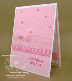 Homemade+Birthday+Cards+for+Girls | angle left handmade girly pink birthday card angle right handmade