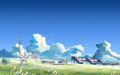 blue sky and green fields