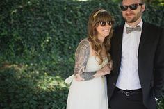 A Hip and Stylish Atlanta Restaurant Wedding by Val and Sarah - Wedding Party Hipster Wedding, On Your Wedding Day, Wedding Pictures, Long Lost Love, Atlanta Restaurants, Brides With Tattoos, Restaurant Wedding, Dress Stand, Wedding Photography Inspiration