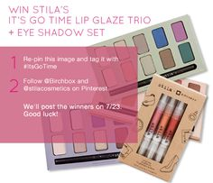 Re-pin this image with #ItsGoTime for a chance to win! Must follow @birchbox and @stilacosmetics to enter to win!