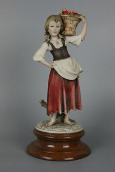 Giuseppe Armani Figurine Girl with Apples - LUX-FAIR.com - 1