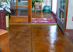 a completed floor to a strawbale house, soaked with linseed oil and covered with a strong acrylic sealer. #strawbale