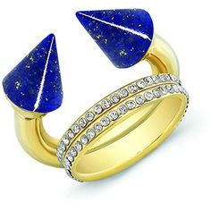 Vita Fede Titan Lapis & Double Crystal Band Ring