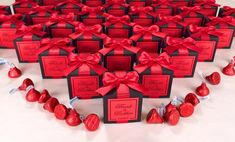 Wedding Favours Navy Blue, Handmade Wedding Favours, Personalized Wedding Favors, Red Wedding, Elegant Wedding, Wedding Candy Table, Candy Wedding Favors, Wedding Gifts For Guests, Wedding Favor Boxes