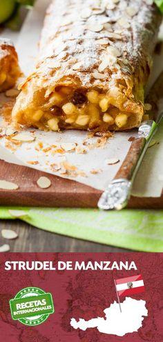 #Recetas del Mundo: #STRUDEL de Manzana, un delicioso postre de origen austriaco... ¡animaos a prepararlo y nos contáis!