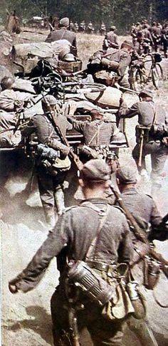 Deutsche Truppen auf dem Marsch