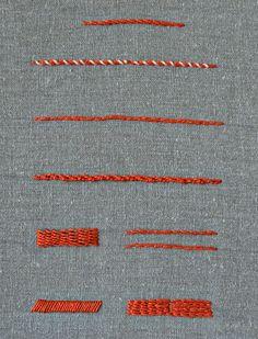 Lerne heute einen neuen Stickstich! Pumora's Lexikon der Stickstiche: Stielstich mit Variationen