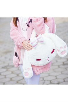 Cute Kawaii Fluffy Rabbit Bag