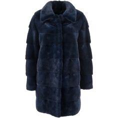Mavina Coats & Jackets ($3,650) ❤ liked on Polyvore featuring outerwear, coats, light blue, blue coat, mink fur coat and mink coat