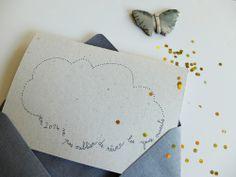 Carte de voeux - Création papillon❀papillonnage