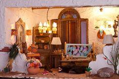 "1"" scale miniature estate sale southwestern hacienda"