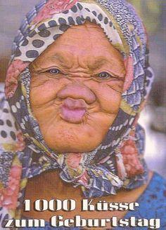 Postkarte - 1000 Küsse zum Geburtstag Postkarten