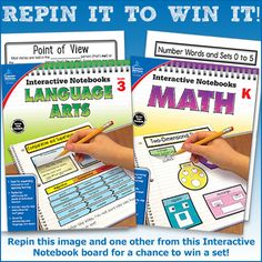 "Win (1) Math Interactive Notebook and (1) Language Arts Interactive Notebook from Carson-Dellosa Publishing! It's this easy: 1. Follow Carson-Dellosa Publishing on Pinterest 2. Repin this pin! 3. Repin one other pin from our board ""Interactive Notebook Templates.""   Contest ends Friday, 10/2/2015 3:00 PM EDT. Winner will be notified via Pinterest message so stay tuned!"