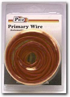 Pico 81206PT 20 AWG Brown Primary Wire 50' per Package by Pico. $4.95. Single Conductor copper stranded primary wire with the highest quality polyvinyl chloride insulation providing the best in flexibility, permanent color and resistance to acids, grease, oil and diesel fumes. Primary wire is manufactured to meet all SAE Type J1128 specifications and will work safely between the operating temperatures of -40°F and 165°F.. Save 38%!