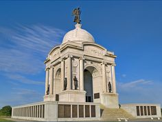 More than 50,000 soldiers died during the 3-day Battle of Gettysburg. Today, hundreds of markers dot the battlefield -- including the State of Pennsylvania Monument. The largest monument on the grounds, it commemorates the 34,530 Pennsylvania soldiers  who served in battle -- the single largest group of Union forces to do so.