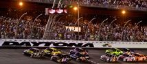 """Daytona International Speedway is the home of """"The Great American Race"""" -- the DAYTONA 500. The DAYTONA 500 is the biggest, richest and most prestigious race in America and annually kicks off the NASCAR Sprint Cup Series."""