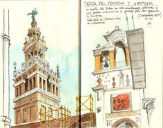 Explore Alfonso García García AG photos on Flickr. Alfonso García García AG has uploaded 857 photos to Flickr. Landscape Drawings, Architecture Drawings, Building Illustration, Illustration Art, Illustrations, Watercolor Sketch, Watercolor Paintings, Drawing Sketches, My Drawings