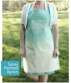 Spray paint apron