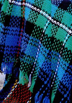 Tartan Throw Pattern ... Crochet Plaid Afghan Rug ... Scottish Tartan ... PDF Crochet Pattern ... Warm, Cosy, Home Decor $3.20
