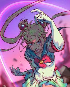 Amazing photo of sailor moon 💛 Artist: Angela Vianello : sailormoon Watch Sailor Moon, Arte Sailor Moon, Sailor Moon Fan Art, Sailor Moon Usagi, Sailor Moon Character, Sailor Saturn, Sailor Moon Crystal, Sailor Moon Pose, Sailor Venus