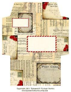 Name: 'Paper Crafts : Vintage Christmas Envelope Christmas Envelopes, Christmas Stationery, Envelope Art, Envelope Design, Pocket Letter, Vintage Christmas, Christmas Crafts, Fun Mail, Paper Envelopes