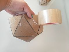 How to Make a Geo Faceted Cement Planter - Tuts+ Crafts & DIY Article                                                                                                                                                                                 Más