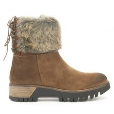 Botín plano piel IXOO Ugg Boots, Bootie Boots, Outlet, Uggs, Shoes, Fashion, Flat Booties, Winter, Fur