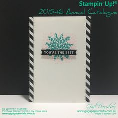 GaGa Papercrafts   You're the Best for GDP026   Click on the image to see more from GaGa Papercrafts. #gagapapercrafts #stampinup #globaldesignproject #handmadecards #greetingcards
