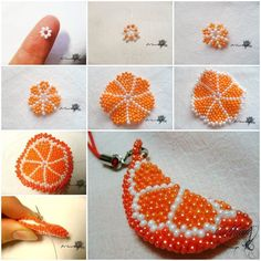 Here is a fun DIY project to make a beaded orange slice key chain. It is so bright and cute! It can be used as a key chain, bag charm, cell phone charm or as an ornament to your any other project. It's a great gift for girls. Take this idea …