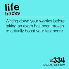 Boost Your Test Scores #LifeHacks