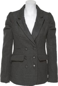 DOLLHOUSE Outerwear Double-Breasted Blazer W/ Pleated Shoulder [81333G-48 (8RG)] $28.95