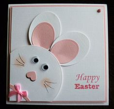 We thought we'd post some handmade Easter card ideas from our Design Team members - you can also look at our Pinterest board for lots more Easter Card Ideas! A little inspiration so you can make and send a few Easter cards this year.