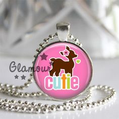Deer Cutie Girly Pink Woodland Necklace.