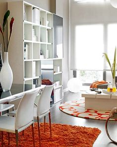 Living Room and Dining Room of Small Apartment Interior Design Ideas