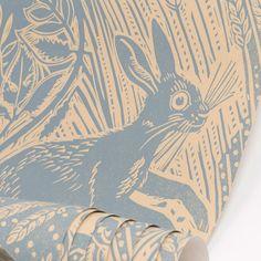 Mark Hearld's Harvest Hare wallpaper