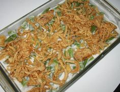Campbell s Green Bean Bake from Food.com: This has been a tradition in my family forever and I want to continue the tradition for my first Thanksgiving Dinner. #ultimatethanksgiving