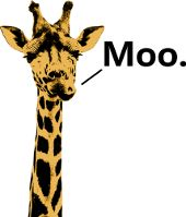Giraffe Moo Mooing Strange Graphics Funny Pictures Shirts