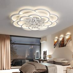 Ceiling Lights & Fans Iwhd Nordic Crystal Lamp Led Ceiling Lighting Fixtures Living Room Iron Ceiling Light For Kitchen Modern Round Avize Available In Various Designs And Specifications For Your Selection