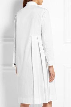Weiße Baumwoll-Popeline Teilweise verdeckte, durchgehende Knopfleiste vorne 100 % Baumwolle Trockenreinigung Designerfarbe: Snow Hergestellt in Italien