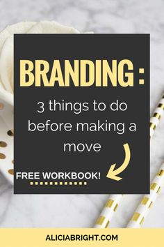 Branding your business is as important as starting your business. Your brand is your silent ambassador. Make sure to do these three things before you launch